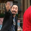 David Gest Primose Hill with bodygaurd Imran.