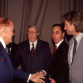 Bob Hope (Far Left), Gene Kelly, David Gest & Tristan Rogers