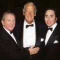 David Gest With Two Legends, Eddie Bracken (Far Left) & His Mentor And Favourite Actor Of All-Time, Joel Mccrea. Both Mccrea & Bracken Starred In The Legendary Director Preston Sturges Classic Films: Bracken In 'The Miracle On Morgan's Creek' & 'Hail The Conquering Hero' & Mccrea In Gest's Favourite Film Of All-Time, 'Sullivan's Travels'.