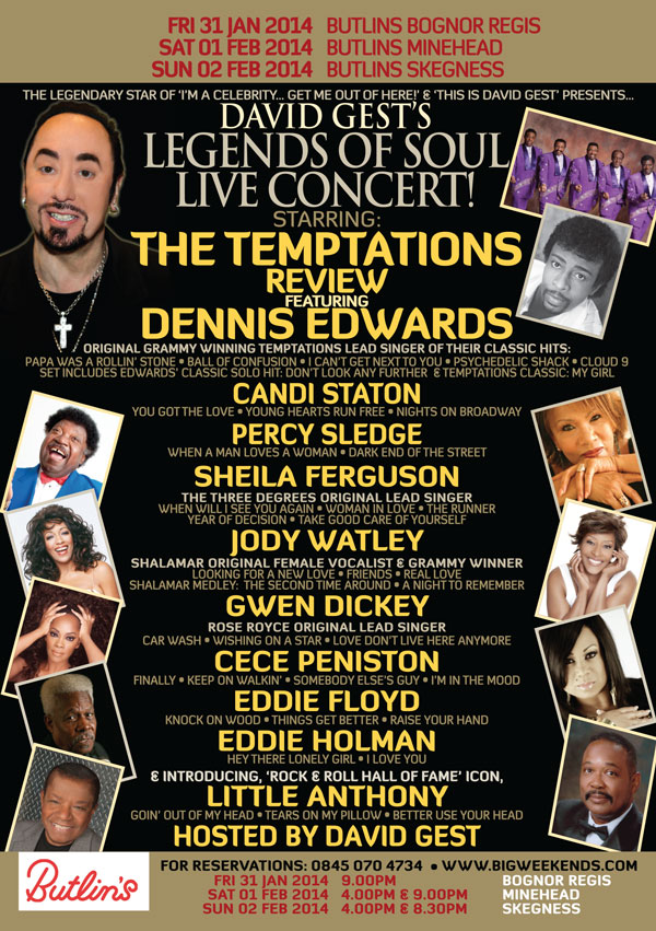 Legends Of Soul Live Butlins
