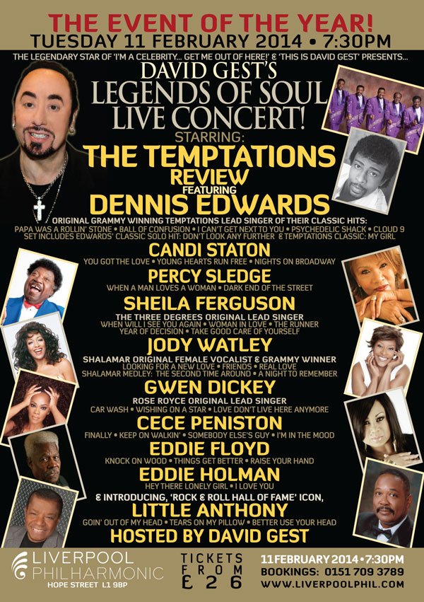 Legends Of Soul Live- LIVERPOOL