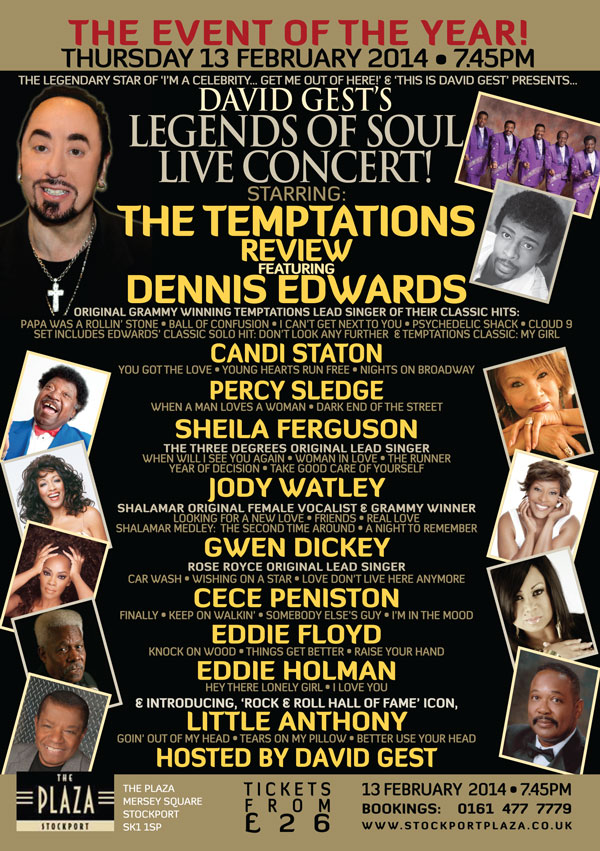 Legends Of Soul Live STOCKPORT