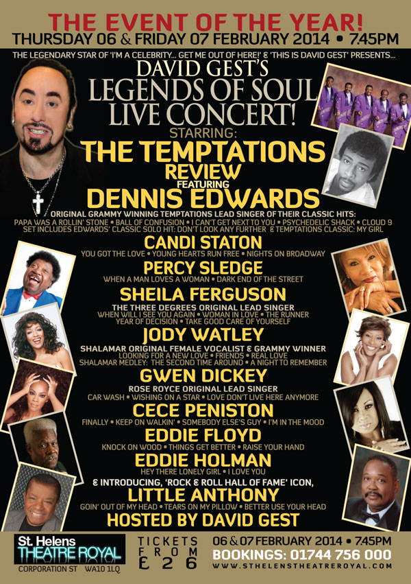 Legends Of Soul Live St Helens