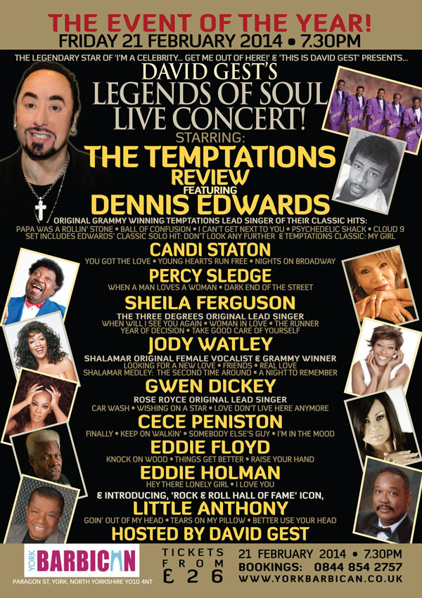 Legends Of Soul Live YORK
