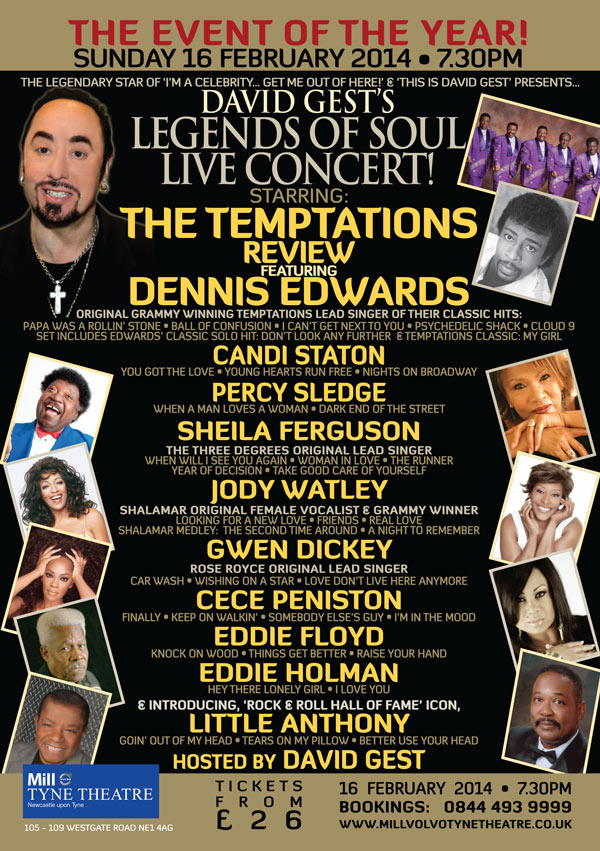 Legends Of Soul Live NEWCASTLE