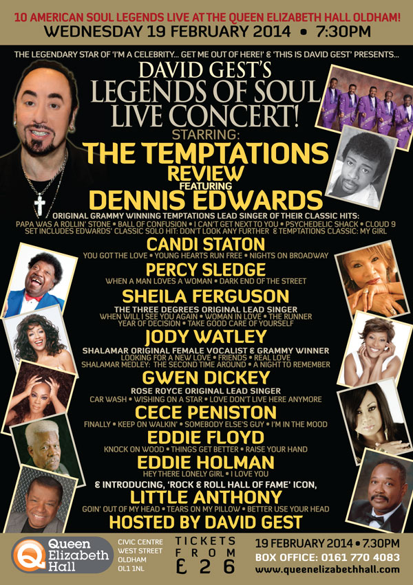 Legends Of Soul Live OLDHAM