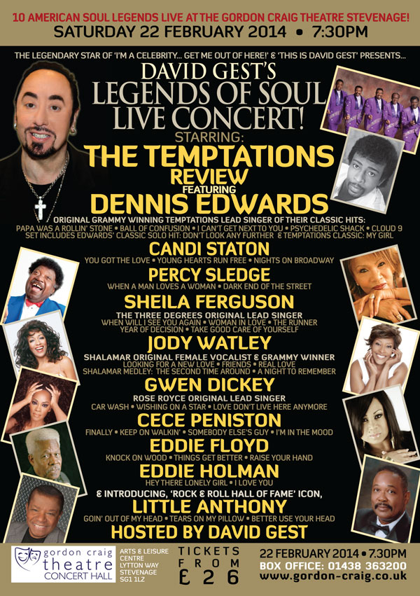 Legends Of Soul Live STEVENAGE